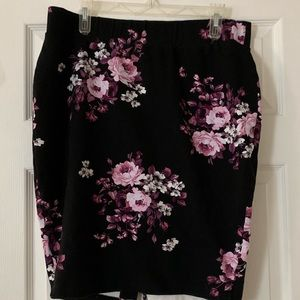 Torrid floral pencil skirt